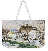 Farm In Winter Weekender Tote Bag
