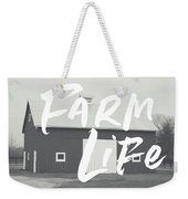 Farm Life Barn- Art By Linda Woods Weekender Tote Bag by Linda Woods