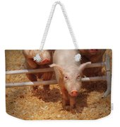 Farm - Pig - Getting Past Hurdles Weekender Tote Bag