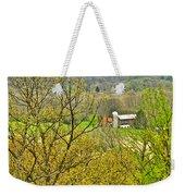Farm Seen From Culp Hill Lookout In Gettysburg National Military Park-pennsylvania Weekender Tote Bag