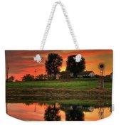 Farm Sunset Weekender Tote Bag
