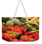 Farm To Market Produce - Melons, Corn, Tomatoes Weekender Tote Bag