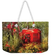 Farm - Tractor - A Pony Grazing Weekender Tote Bag by Mike Savad