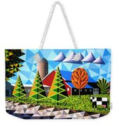 Farm With Three Pines And Cow Weekender Tote Bag