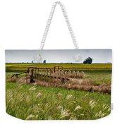 Farm Work Wiind And Rain Weekender Tote Bag
