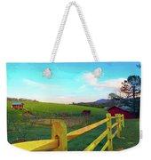 Farm Yard Fence Weekender Tote Bag