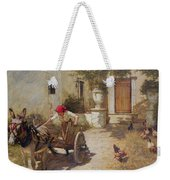 Farm Yard Scene Weekender Tote Bag