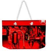 Farmall Engine Detail Weekender Tote Bag