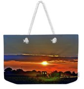 Farmer And A Sunset. Weekender Tote Bag