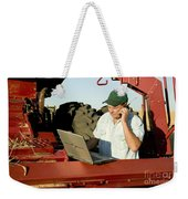 Farmer With Laptop And Cell Phone Weekender Tote Bag