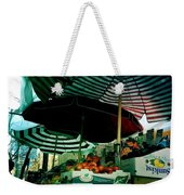 Farmers Market With Striped Umbrellas Weekender Tote Bag