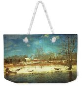 Farmhouse Across The River Weekender Tote Bag