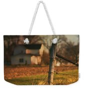 Farmhouse And Fence Post Weekender Tote Bag