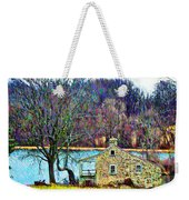 Farmhouse By The Lake Weekender Tote Bag