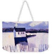 Farmhouse In Winter Weekender Tote Bag