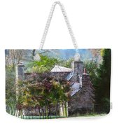 Farmhouse On A Cold Winter Morning. Weekender Tote Bag