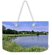 Farmhouse On The Lake Weekender Tote Bag