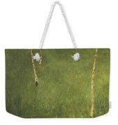 Farmhouse With Birch Trees Weekender Tote Bag by Gustav Klimt
