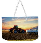Farming April In The Field On The Case 500 Weekender Tote Bag