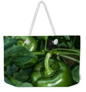 Farming Green Peppers Weekender Tote Bag