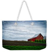 Farming Red Barn On A Quite Spring Day Weekender Tote Bag