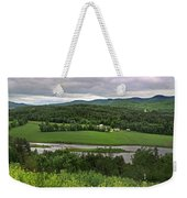 Farmland View Over The Connecticut River  Weekender Tote Bag