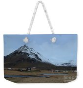 Farms At The Base Of Mt Stapafell In Iceland Weekender Tote Bag