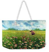 Farmstand Flower Lady Weekender Tote Bag