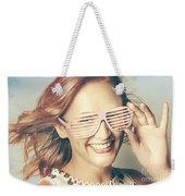 Fashion Eyewear Pin-up Weekender Tote Bag