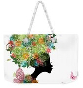 Fashion Girl With Hair Arabesque Weekender Tote Bag