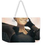 Fashionable Wealthy Woman Weekender Tote Bag