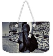 Fashionable Woman And Mansion Weekender Tote Bag