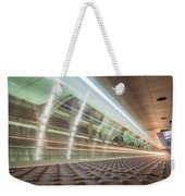 Fast Moving Long Exposure Of Subway Train Underground Tunnel Weekender Tote Bag