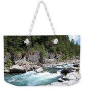 Fast River Weekender Tote Bag