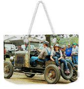 Father And Daughter In The Tractor Parade Weekender Tote Bag