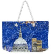 Father Christmas Flying Over London Weekender Tote Bag