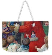 Father Christmas With Children Weekender Tote Bag