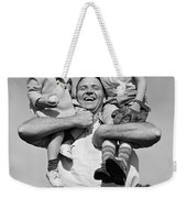 Father Holding Children, C.1930s Weekender Tote Bag