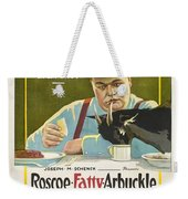Fatty Arbuckle In Camping Out 1919 Weekender Tote Bag