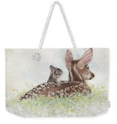 Fawn And Bunny Weekender Tote Bag