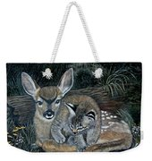 Fawn And Cat Weekender Tote Bag
