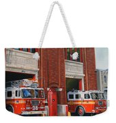 Fdny Engine 88 And Ladder 38 Weekender Tote Bag by Paul Walsh