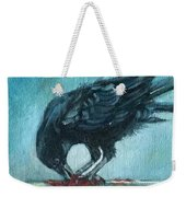 Feasting Raven Weekender Tote Bag