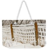 Feather Dusted Weekender Tote Bag