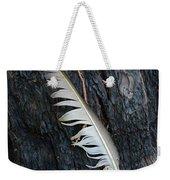 Feather In Burnt Tree Weekender Tote Bag