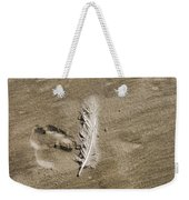 Feather Print Weekender Tote Bag