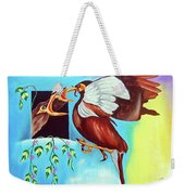 Feather Touch Weekender Tote Bag