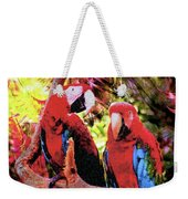 Feathered Duet Weekender Tote Bag