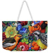 Feathered Foliage Weekender Tote Bag