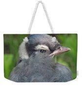 Feathered Jay Weekender Tote Bag